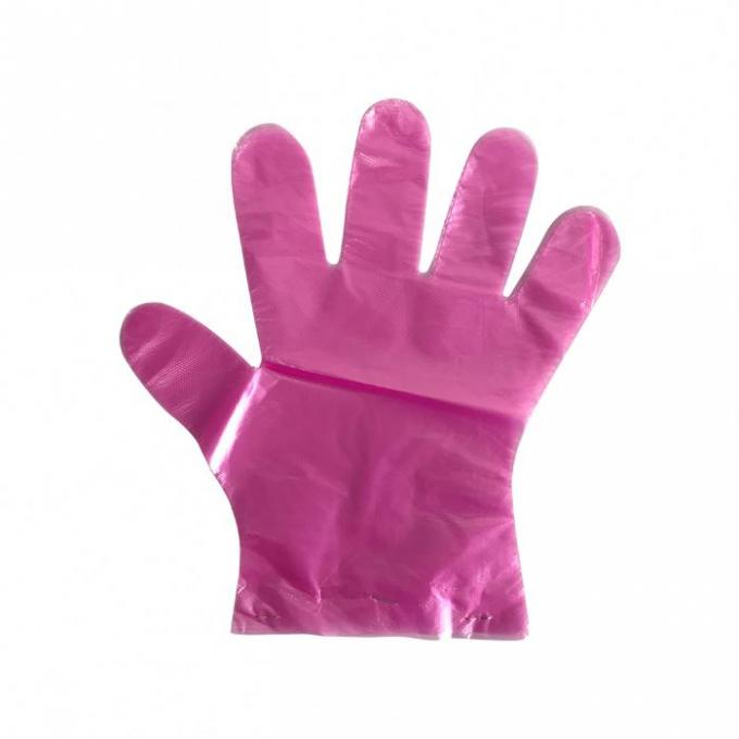 Disposable Food Preparation Gloves , LDPE Plastic Gloves For Serving Food