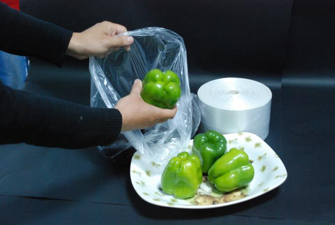 Perforated Plastic Produce Bags High Density Waterproof Tough Bottom