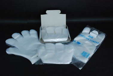 China Food Safe Plastic Kitchen Gloves , Clear Disposable Food Prep Gloves supplier