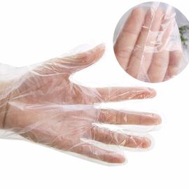 China Food Grade Disposable PE Gloves Length 285 - 290mm Tear Proof Multi Color supplier